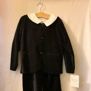 Strausburg black velvet boys 6 suit